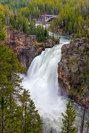 """upper falls"", Yellowstone, river, ""national park"", waterfall,"