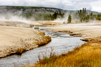 fire hole, river, yellowstone, national park, geyser, wyoming