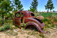 vintage, car, auto, automobile, body, rust, junk, wreck