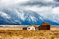 moulton, barn, homestead, mormon row, grand teton, national park, wyoming, usa, print