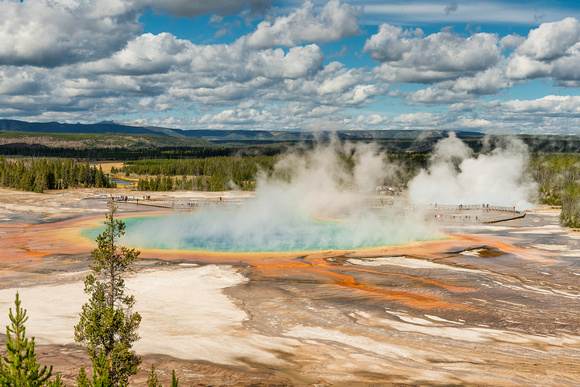 Grand Prismatic Spring, Yellowstone, national park, hot spring, geyser, wyoming