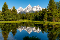 Schwabachers Landing, beaver ponds, reflection, mountains, grand teton, national park, print, wyoming