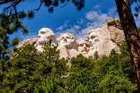 mount rushmore, four faces, south dakota, black hills, print