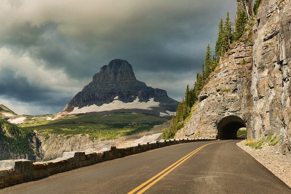 Tunnel, going to the sun road, glacier, national park, mountains, glacier